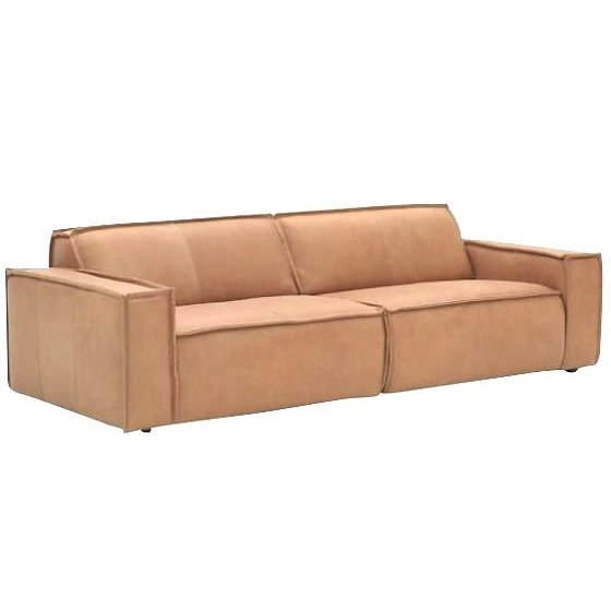 Fest amsterdam edge 3 seater naturale sand leather 8002 for Sand leather sofa