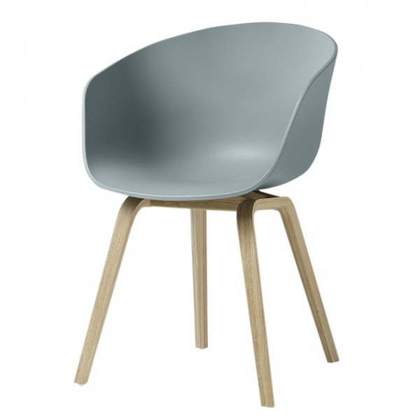 hay about a chair aac22 dusty blue stoel the shop online. Black Bedroom Furniture Sets. Home Design Ideas