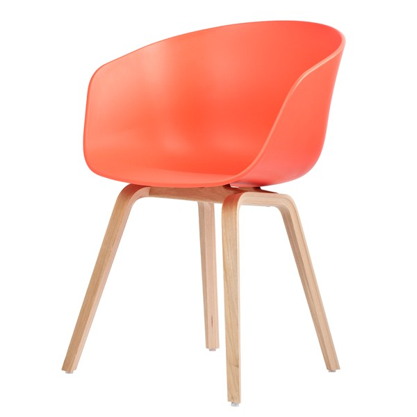 hay about a chair aac22 coral red stoel. Black Bedroom Furniture Sets. Home Design Ideas