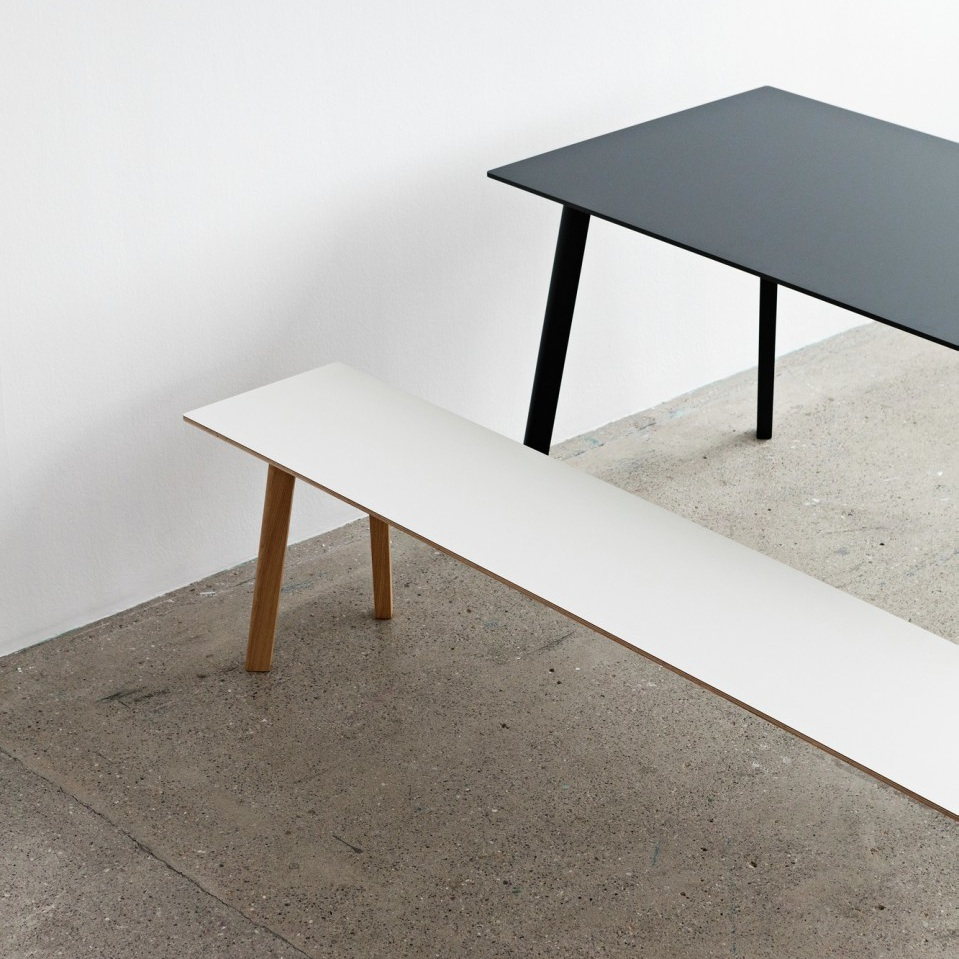 Hay Copenhague Deux Table Cph210 200x75 Coloured Base