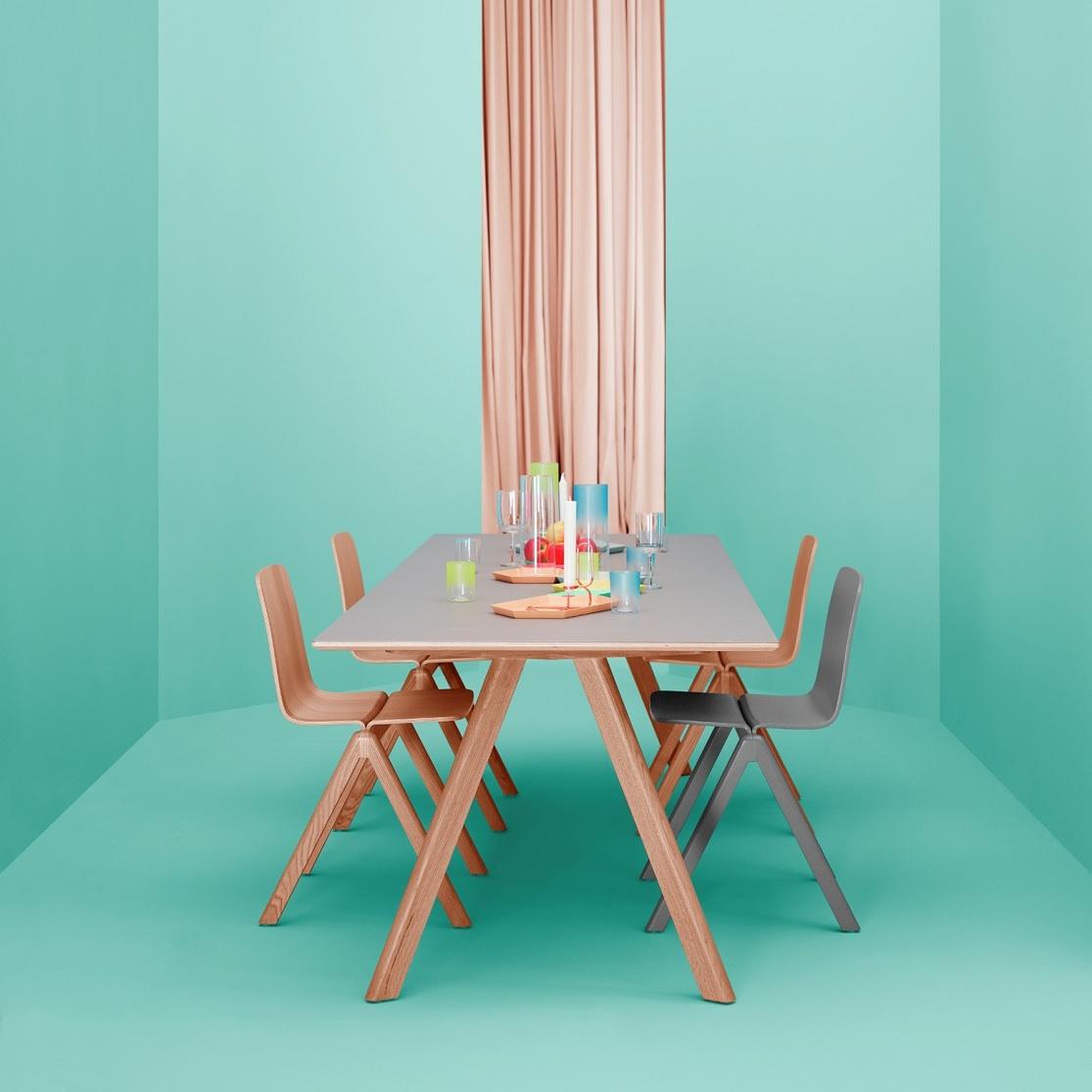 hay copenhague table cph30 300x90 lacquered base tafel the shop online herentals. Black Bedroom Furniture Sets. Home Design Ideas