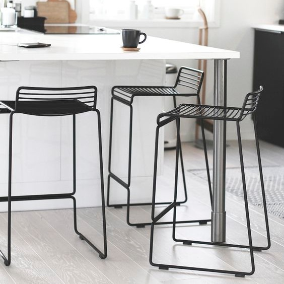 HAY Hee Bar Stool BlackWhiteGreyArmyRacing Green