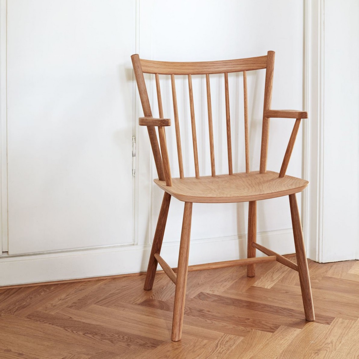 Hay j42 chair oiled solid oak stoel the shop online for Hay about a chair replica