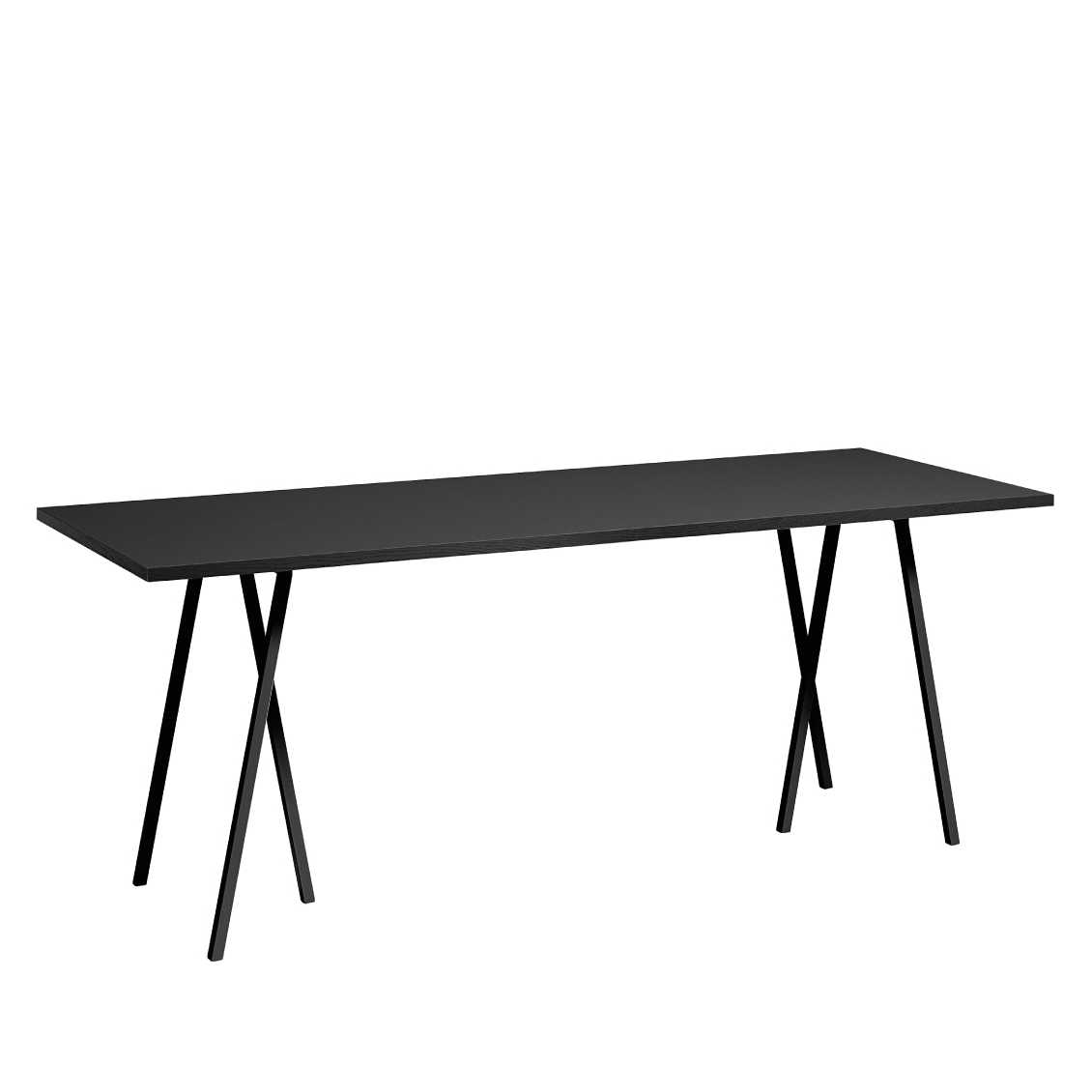 hay loop stand table 160cm x 77cm black white grey eettafel. Black Bedroom Furniture Sets. Home Design Ideas