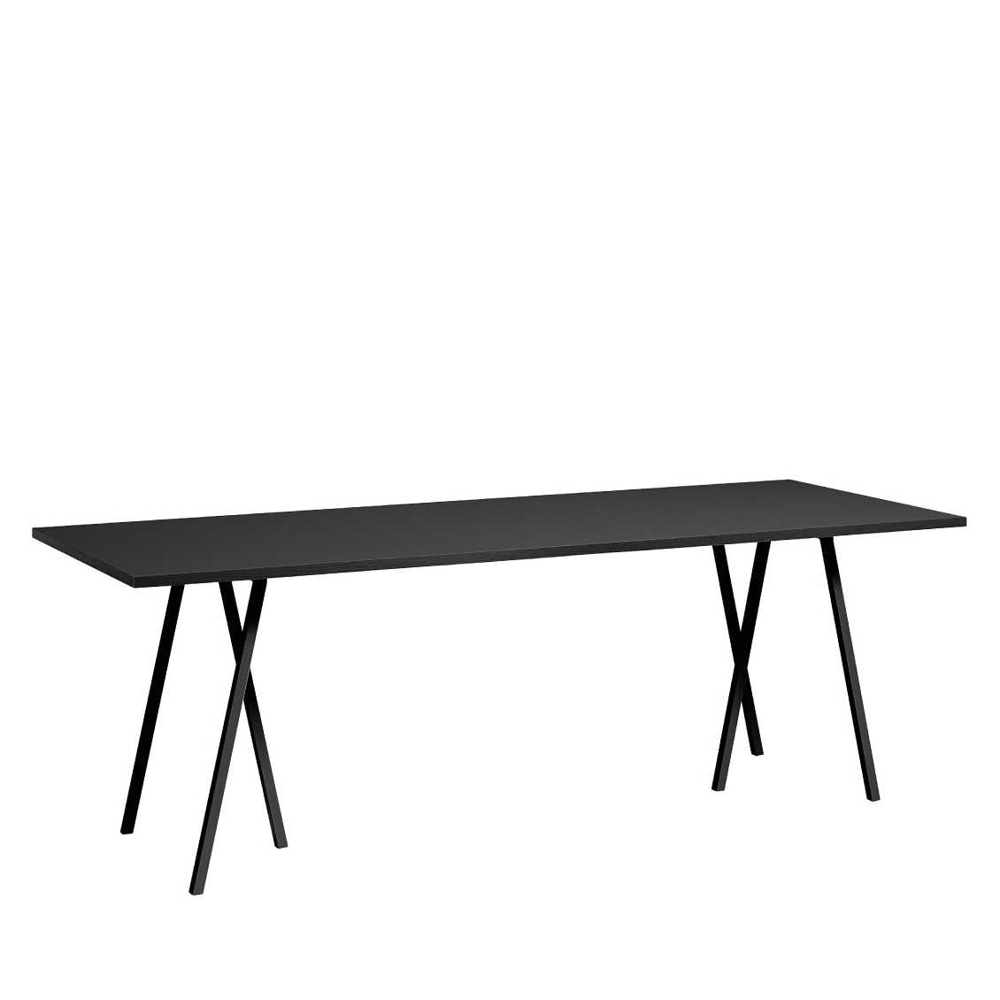 hay loop stand table 180cm x 87cm black white grey eettafel. Black Bedroom Furniture Sets. Home Design Ideas