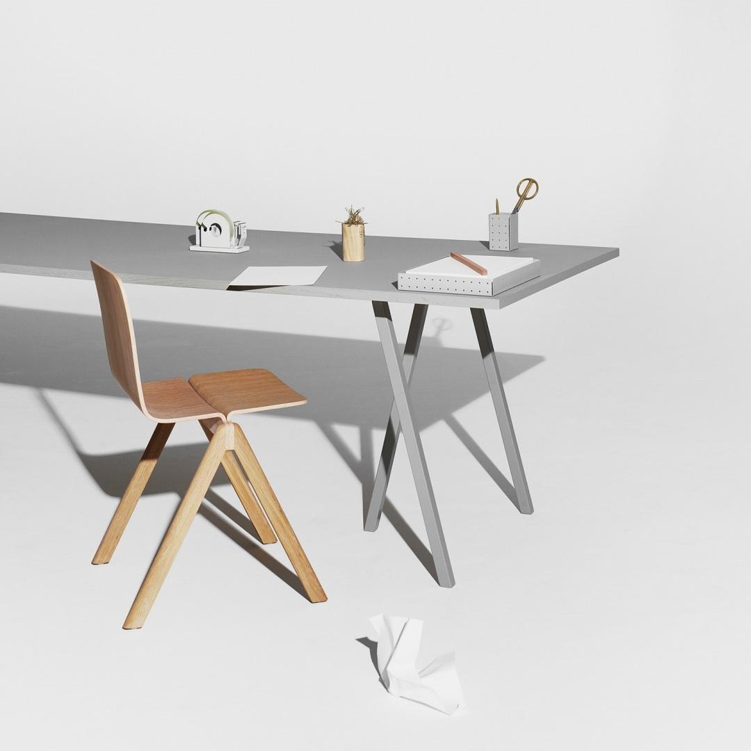 Hay Loop Stand Table 200cm X 92cm Black White Grey