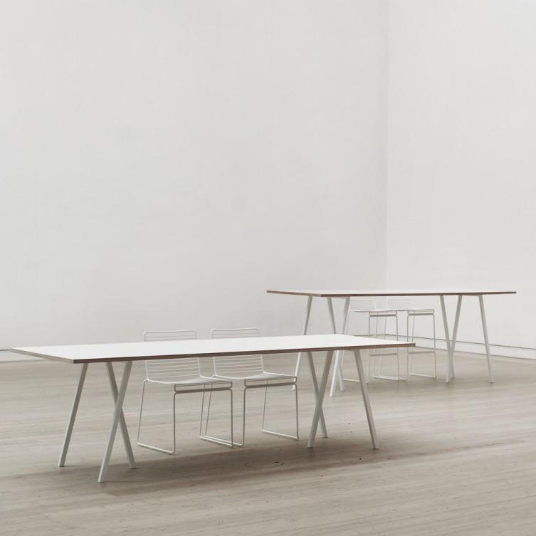 hay loop stand table 200cm x 92cm black white grey. Black Bedroom Furniture Sets. Home Design Ideas
