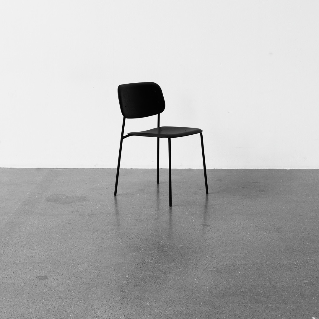 hay soft edge chair black steel base the shop online. Black Bedroom Furniture Sets. Home Design Ideas