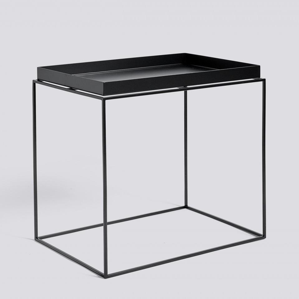 hay tray table 40x60 black white grey salontafel. Black Bedroom Furniture Sets. Home Design Ideas