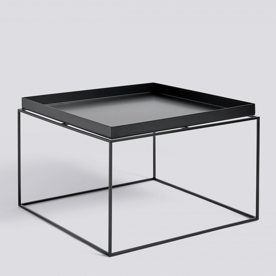 Hay tray table 60x60 black white grey salontafel for Table cuisine 60 x 60