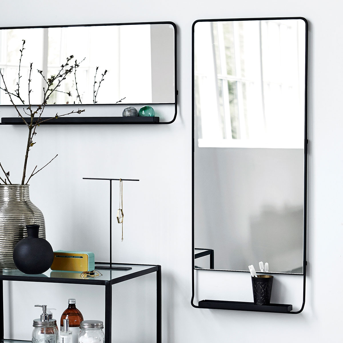 house doctor shelf mirror spiegel the shop online herentals. Black Bedroom Furniture Sets. Home Design Ideas