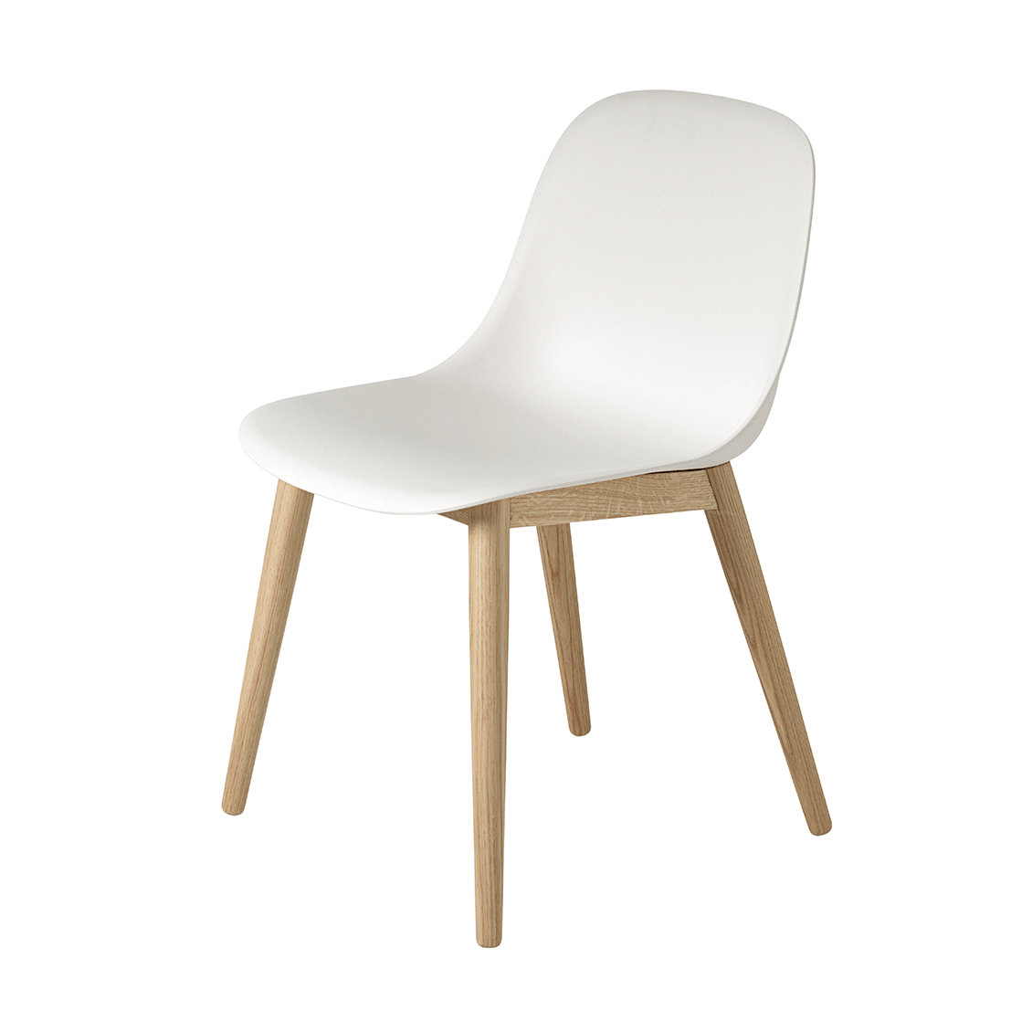 muuto fiber side chair wood base stoel the shop online. Black Bedroom Furniture Sets. Home Design Ideas