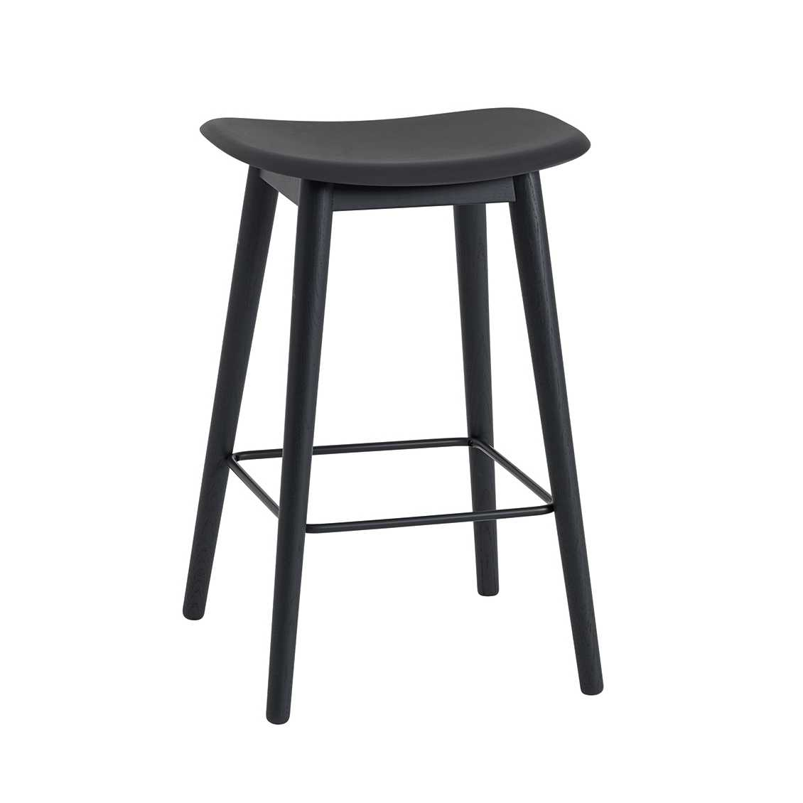 Outstanding Muuto Meubels Fiber Bar Stool H65 Wood Base Barkruk Spiritservingveterans Wood Chair Design Ideas Spiritservingveteransorg