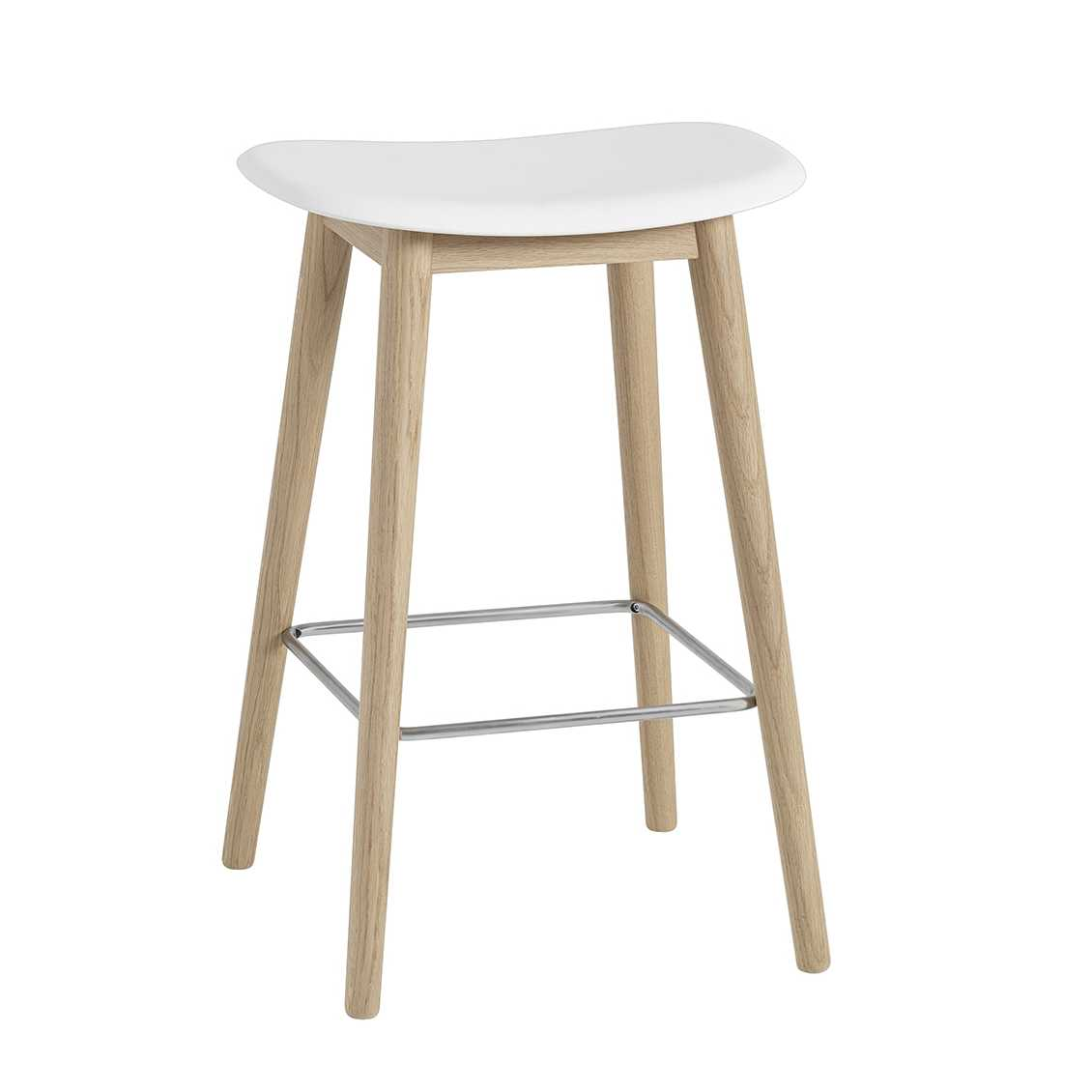 Swell Muuto Meubels Fiber Bar Stool H65 Wood Base Barkruk Gmtry Best Dining Table And Chair Ideas Images Gmtryco
