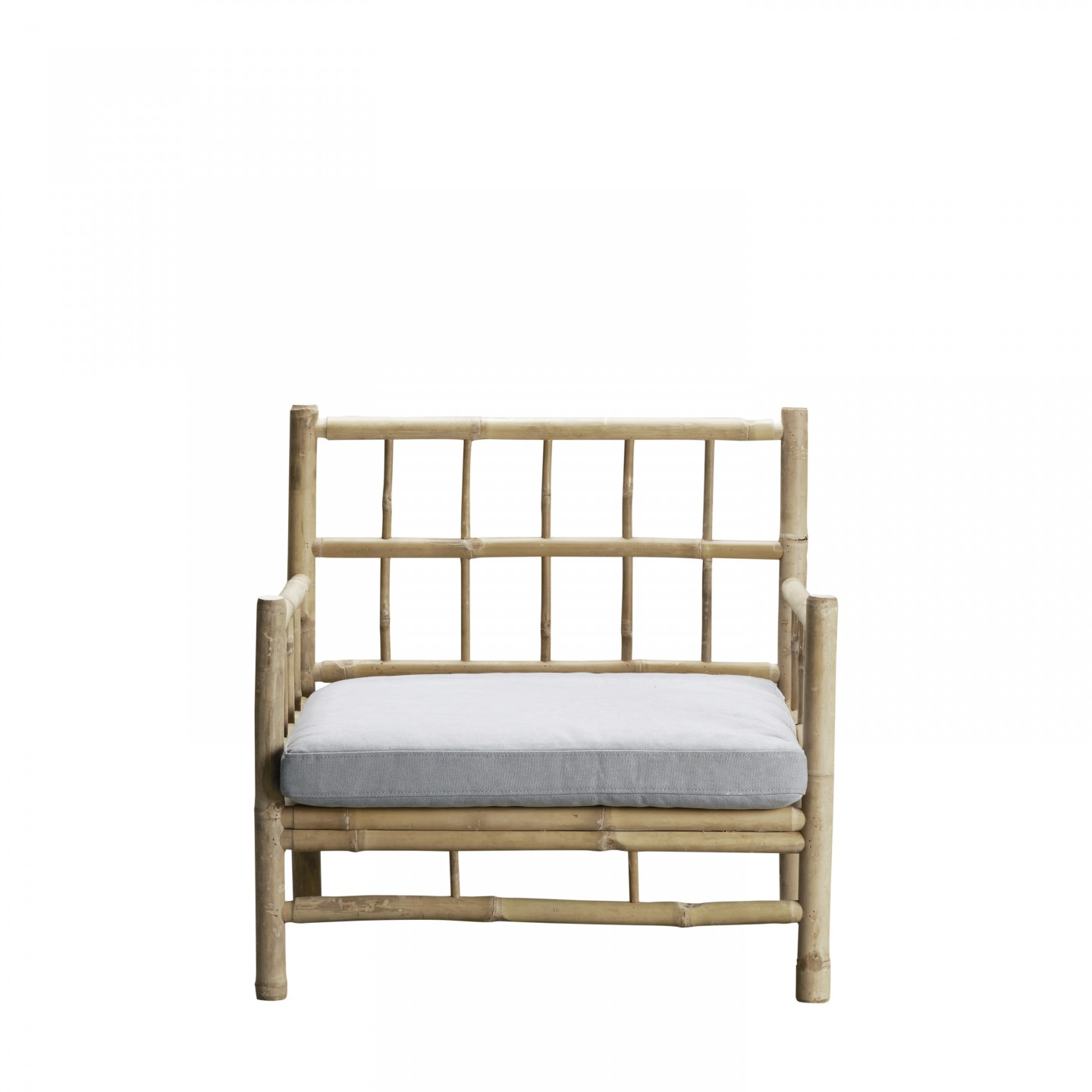 Tine K Home Bamboo Lounge Chair Grey Cover Loungestoel The Shop Online